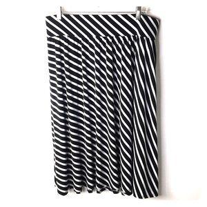 Lane Bryant Maxi Skirt Size 14/16  Striped *B
